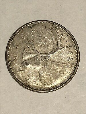 1968 Canada Silver 25 Cent Quarter - Circulated