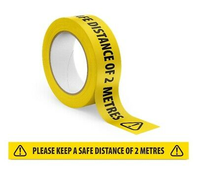 Safety Tape Social Distancing KEEP DISTANCE OF 2 METRES hazard Tape