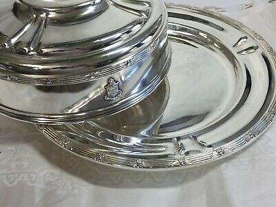 Excellent Stevens Hotel Chicago Silver Soldered Entree Dome & Tray !