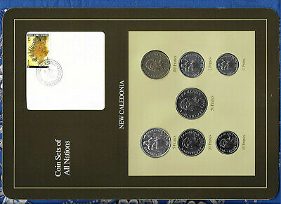 Coin Sets of All Nations New Caledonia w/card 1983-1991 UNC 100,5 Francs 1991