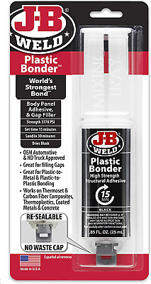 J-B Weld 50139 Plastic Bonder Body Panel Adhesive and Gap Filler Syringe - Dries