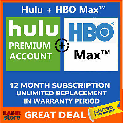Hulu Account + HBO + No Ads 😲Pandora Gift ✅1 Year Warranty ✅ Instant delivery