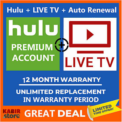 Hulu + LIVE TV Premium Account 😲Pandora Gift ✅1 Year Warranty ✅Fast Delivery