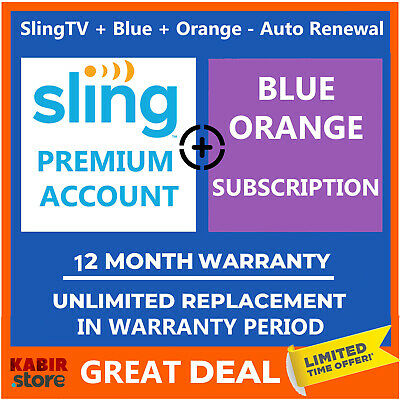 Sling TV 📺 Premium Account 😲Pandora Gift ✅12 Month Warranty ✅ Fast Delivery