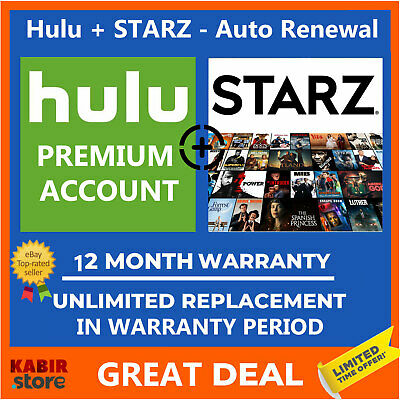 HULU + STARZ ✨Premium Account 😲Pandora Gift✅1 Year Warranty ✅Fast delivery