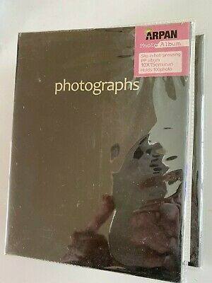 Photo Album 10x15cm Holds 100 Photos- Black cover- Slip in hot-pressing Photo Al