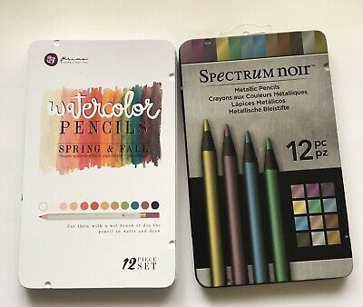 Metallic Pencils By Spectrum Noir & Prima Watercolor Pencils - Spring & Fall
