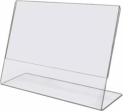 Tag Plastics 6x4 Clear Acrylic Picture Frames Horizontal Slanted Sign Holder