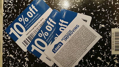 (20x) Lowes 10% Off for Home Depot only Expires MARCH 15 2021