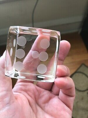 Oleg Cassini, Crystal Dice /Die (single) Paperweight. Beautiful, No box scratch