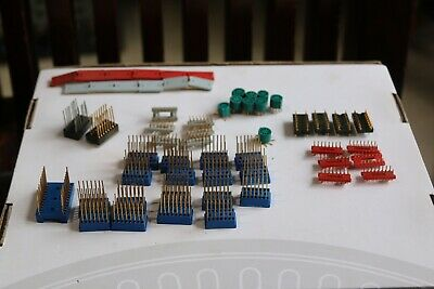 Lot Of 45 Ic Sockets Adapter  Mix - Nos