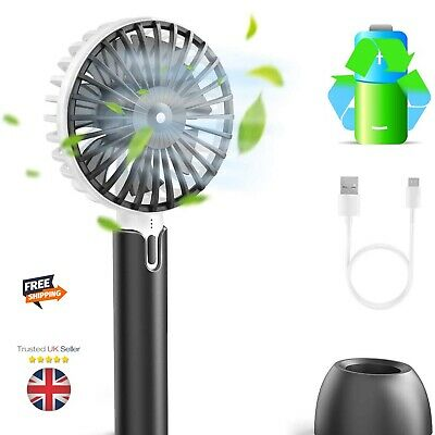 Portable Fan Handheld Electric USB  ,  with Rechargeable 1200 mAh Battery