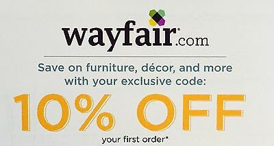 WAYFAIR: 10% Off Your First Order - Online Discount Code [7/15/20]