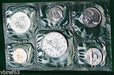 6 perfect coins in org packaging and certificate 1977 Canada Prooflike PL set
