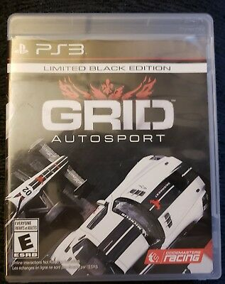 GRID Autosport -- Limited Black Edition (Sony PlayStation 3, 2014) *Complete*