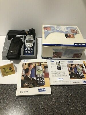 Nokia Cell Phone 3285 Complete In Box (Manuals, Case, Charger) Vintage! See Note