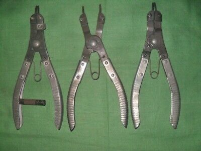 Vintage 3-Lot K-D Snap Ring Pliers K-D445 / 446 / Pat.appl'd for