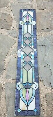 Antique Stained Leaded Transom Window, Baltimore Md Mansion Salvage Great Colors