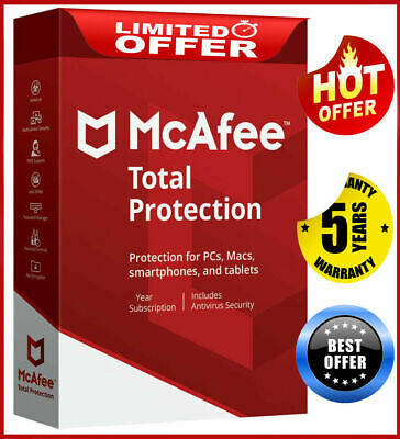 McAfee Total Protection 2020 1 Device 5 Years Antivirus Ínstant dєlivєry 📥