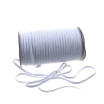 5,6mm Flat Elastic Band White Ship From Canada