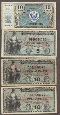 #11-Military Payment Certificates, Circulated, Multiple Series