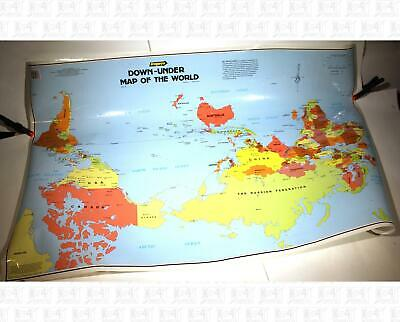 Gregory's Down Under Map Of the World Australian Upside-Down World Map 1994