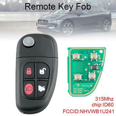 315Mhz 4 Button Flip Keyless Entry Remote Car Key Fob Fit for Jaguar S X type