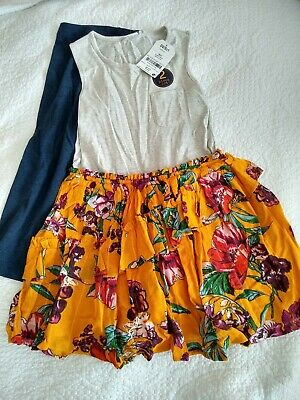 Bnwt Girls Next Summer Dress And Leggings Set / Outfit - Age 6