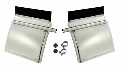 Betts HD SS211PA2 Quarter Fenders Bright 430 18 Gauge Stainless Steel + Mounting