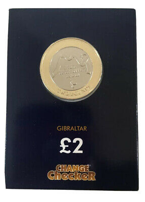 2019 £2 Coin Gibraltar Breast Cancer Support Two Pounds Only 12,500 Minted.