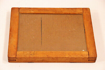 "Vintage CONTACT PRINTING FRAME Wood Full Plate c.1900 6-1/2"" x 8-1/2"""