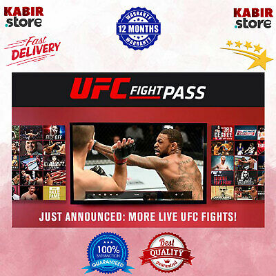 UFC Sports Fight Pass Premium Live Account 😲Pandora Gift ✨12 Month Warranty