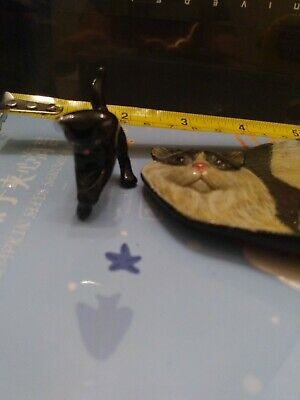 Small Black Cat And Cat Tiny Plate