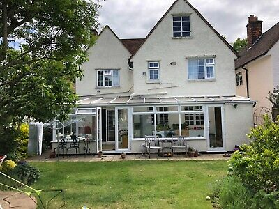 Used White UPVC Conservatory - Buyer to dismantle 1.8 m x 8.9 m x 3.7 m approx
