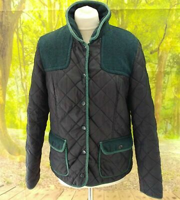 """Next Navy Blue Padded Quilted Jacket. 19"""" pit-to-pit, 26"""" length, Size 14."""