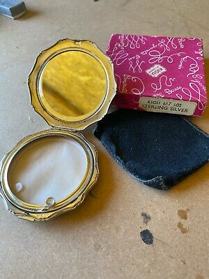 SOLID SILVER Ladies KIGU of London Compact - With Box