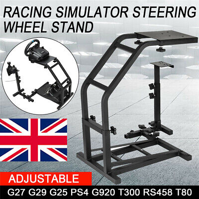 Racing Simulator Steering Wheel Stand for G27 G29 PS4 G920 T300RS 458 T80 Black