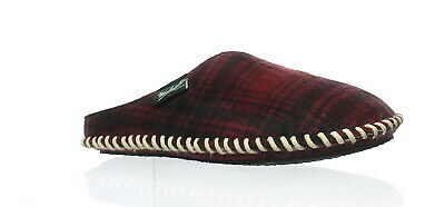 Woolrich Mens Mill Scuff Red Hunting Plaid Mule Slippers Size 8 (142052)