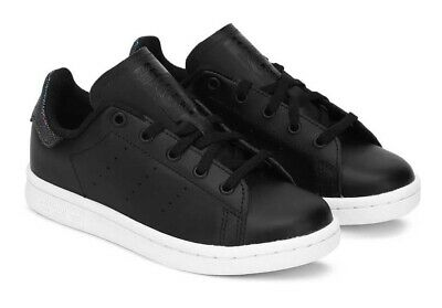 Kids's junior unisex boys girls Adidas Stan Smith CG6676 shoes trainers leather