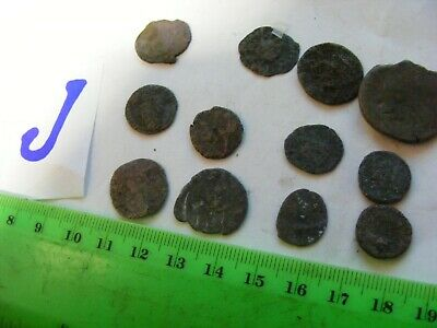 Lot of 12  worn mixed conditions Ancient  mostly Roman Coins(J).