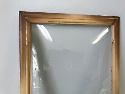 Vintage Wooden Bubble Glass Picture Frame with 9 x 14 Convex Glass