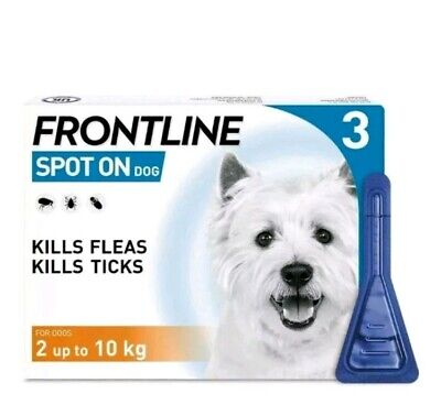 Frontline Spot On Flea For Small Dogs  2-10kg 3 Pipettes AVM-GSL (EXP:09/2022)