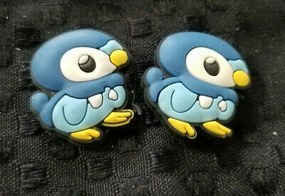 2  X Piplup  Shoe Charm Pvc Rubber - Pokemon