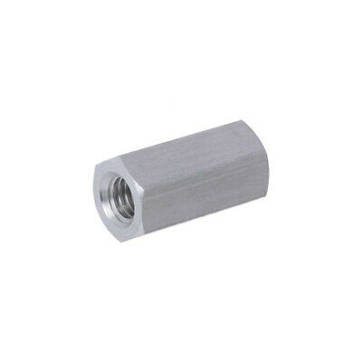 10X 139X20 Screwed spacer sleeve Int.thread: M6 20mm hexagonal aluminium DREMEC