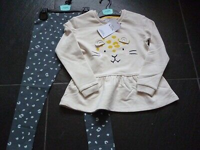 Girls M&S Top and Leggings Set. Age 5-6 Matching Outfit BNWT. MARKS AND SPENCER
