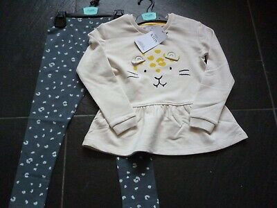 Girls M&S Top and Leggings Set. Age 4-5 Matching Outfit BNWT. MARKS AND SPENCER