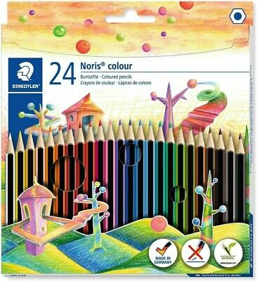 Staedtler Noris Hexagonal Shape Colouring Pencils Assorted Colour Pack Of 24