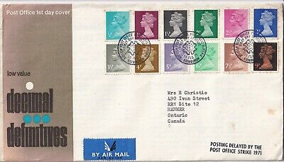GB - 1971 - Decimal Definitives (Low Values) - First Day Cover 167
