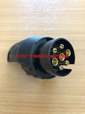 NEW 7 Pin Vehicle to 13 Pin Trailer Tow Ball Electrics Adapter Maypole 6005B ✅