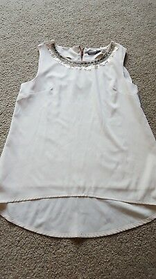 Girls Beige Smart Top Marks & Spencer M&S Fully lined Age 10-11 Years BNWOT